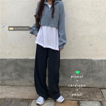 Fashion suit Spring 2021 White T-shirt 302, blue sweater 303, gray suit pants 304 Separate shots 18-25 years old 30% and below
