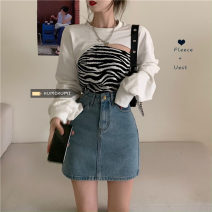 Fashion suit Spring 2021 Average size White sweater, leopard strap s, leopard strap M 18-25 years old 30% and below