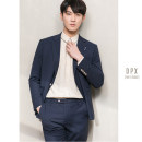 Suit Business gentleman Others Blue, apricot 50. M, XL, 2XL, suit 238, pants 135 routine Baling collar Double slit Four seasons Self cultivation Double breasted banquet youth Business Formal  2020 Solid color