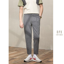 Casual pants Others Fashion City Black, premium grey, light Khaki S,M,L,XL,2XL,3XL routine Ninth pants go to work Straight cylinder Micro bomb summer youth 2020 middle-waisted Straight cylinder washing
