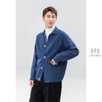 T-shirt / sweater Others Fashion City Blue, apricot M,L,XL,2XL thickening Cardigan Lapel Long sleeves winter 2020 go to work Exquisite Korean style youth routine Solid color Regular wool (10 stitches, 12 stitches)