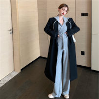 Women's large Winter 2020, autumn 2020 It is suggested that the size of the recommended size is 120-40kg, and it is recommended to use the size of 120-40kg Three piece set commute easy thin Long sleeves Solid color Korean version Medium length routine 18-24 years old trousers