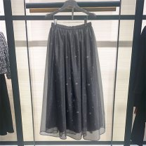 skirt Spring 2021 1 / XS, 2 / s, 3 / m, 4 / L, 5 / XL black Mid length dress Versatile High waist Pleated skirt Solid color Type A 25-29 years old 1200121-1A69811-001 More than 95% Novel goldette nylon Screen, printing 401g / m ^ 2 (inclusive) - 500g / m ^ 2 (inclusive)