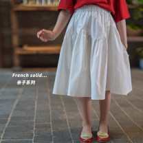 Parent child fashion Pure white Women's dress female Shi pea 80cm, 90cm, 120cm, 130cm, 140cm, 100cm (Marilyn try on), 110cm (Ajiao try on), s, m, l Q426 summer princess Solid color skirt other M,L,S Q426 Other 100% 18 months, 2 years, 3 years, 4 years, 6 months Chinese Mainland