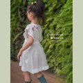 Dress female Shi pea 80cm, 90cm, 120cm, 130cm, 140cm, 100cm (Marilyn try on), 110cm (Ajiao try on) Other 100% summer Korean version Short sleeve Embroidery other Princess Dress 12 months, 18 months, 2 years old, 3 years old, 4 years old, 5 years old, 6 years old Chinese Mainland
