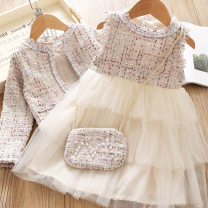 Dress female Tendertouch / soft touch 100cm 110cm 120cm 130cm 140cm Other 100% spring and autumn Korean version Long sleeves lattice polyester Splicing style Class A Spring 2020 18 months, 2 years old, 3 years old, 4 years old, 5 years old, 6 years old, 7 years old, 8 years old, 9 years old