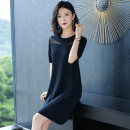 Dress Summer 2020 Yellow black M L XL XXL XXXL longuette singleton  Short sleeve commute Crew neck Loose waist Solid color Socket A-line skirt routine Others 25-29 years old Qu Han Splicing QH-20200415-004 More than 95% other Other 100% Same model in shopping mall (sold online and offline)