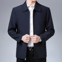 Jacket Other / other Fashion City Navy, dark green, with cotton Navy, with cotton dark green 170/M,175/L,18O/XL,185/XXL,190/XXXL,195/XXXXL routine standard Other leisure spring Long sleeves Wear out Lapel Business Casual middle age routine Zipper placket 2020 Cloth hem washing Loose cuff Solid color