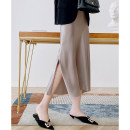 skirt Spring 2021 S (for size 26), m (for size 27), l (for size 28), XL (for size 29) black , Champagne , blackish green , Light grey , Caramel Middle-skirt commute A-line skirt Solid color Type A 51% (inclusive) - 70% (inclusive) Cellulose acetate Simplicity