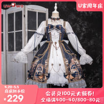 Lolita Dress [s pre-sale, others in stock] Lolita gear heart with shirt [pre-sale] Lolita gear heart [Navy] [blue red ribbon, please buy corresponding color, skirt comes with] L M S XL Customized You Wo Wo
