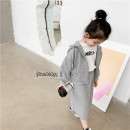 suit SENBABY 90, 100 (model), 110, 120, 130, 140, 150 female spring and autumn Long sleeve + skirt Plush There are models in the real shooting cotton 2 years old, 3 years old, 4 years old, 5 years old, 6 years old, 7 years old, 8 years old