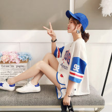 Casual suit Summer of 2018 Red blue white black One size fits all 18-25 years old H5577 Han Youshang Cotton 90.9% polyurethane elastic fiber (spandex) 9.1% Pure e-commerce (online only)