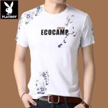T-shirt Fashion City Playboy / Playboy routine Short sleeve Crew neck standard daily summer 2541 youth routine tide Cotton wool cloth 2020 Animal design printing Animal design Non iron treatment 165/M,170/L,175/XL,180/2XL,185/3XL,190/4XL