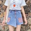 Women's large Summer 2020 938 orange, 938 green S [recommended 80-95 Jin], m [95-105 Jin], l [105-120 Jin], XL [120-135 Jin], 2XL [135-150 Jin recommended], 3XL [150-165 Jin recommended], 4XL [165-180 Jin recommended], 5XL [180-200 Jin recommended] Jeans thin Three dimensional cutting Zhuo Jin shorts