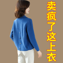 short coat Spring 2020 M,L,XL,XXL,XXXL Blue, yellow, off white, camel, rose, brick red Long sleeves have cash less than that is registered in the accounts routine singleton  Straight cylinder commute routine Polo collar Single breasted Solid color Other / other 96% and above Button 20C89010220 other