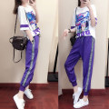 Casual suit Summer of 2018 Purple suit white one piece T-shirt SMLXLXXL 25-35 years old one hundred and eighty thousand six hundred and one cotton