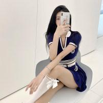 Fashion suit Summer 2021 S,M,L Blue, white 18-25 years old JOY1276 31% (inclusive) - 50% (inclusive) cotton