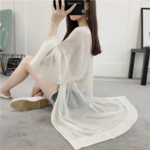 Wool knitwear Summer 2021 Long sleeves singleton  Cardigan other More than 95% Medium length Thin money commute easy V-neck routine Solid color Korean version gdyc17218 18-24 years old Triacetate fiber (triacetate fiber) 100%