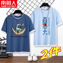 T-shirt NGGGN 110cm 120cm 130cm 140cm 150cm 160cm 165cm male summer Short sleeve Crew neck motion There are models in the real shooting nothing cotton Cartoon animation Cotton 100% Class B Sweat absorption Spring 2021 Chinese Mainland