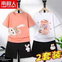 suit NGGGN 110cm 120cm 130cm 140cm 150cm 160cm 165cm female summer leisure time Short sleeve + pants 4 pieces or more Thin money There are models in the real shooting Socket nothing Cartoon animation Pure cotton (100% cotton content) Class B Cotton 100% Summer 2021 Chinese Mainland