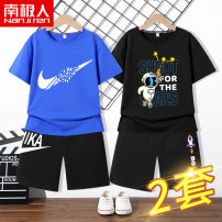 suit NGGGN 110cm 120cm 130cm 140cm 150cm 160cm 165cm male summer motion Short sleeve + pants 2 pieces Thin money There are models in the real shooting Socket nothing Cartoon animation Pure cotton (100% cotton content) NJRXP00203673 Class B Cotton 100% Summer 2021 Chinese Mainland