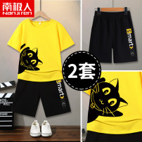 suit NGGGN 110cm 120cm 130cm 140cm 150cm 160cm 165cm female summer motion Short sleeve + pants 2 pieces Thin money There are models in the real shooting Socket No detachable cap Cartoon animation cotton NJRDXDK02 Class B Spring 2021 Chinese Mainland