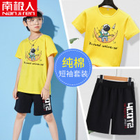 suit NGGGN 110cm 120cm 130cm 140cm 150cm 160cm 165cm male summer motion Short sleeve + pants 2 pieces Thin money There are models in the real shooting Socket nothing Cartoon animation Pure cotton (100% cotton content) NJRDXDK00005 Class B Cotton 100% Summer 2021 Chinese Mainland