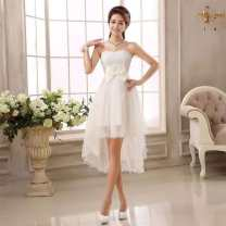 Dress / evening wear wedding [large LXL (weight 110-140)], [average S-M (weight 78-110 Jin)] White bra, red bra, champagne bra grace Medium length High waist Summer 2017 fish tail Chest type zipper Netting 18-25 years old Other article number 3 Sleeveless flower Solid color Other / other other other