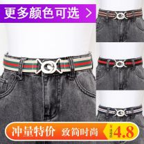 Belt / belt / chain canvas female belt Sweet Single loop Youth, youth, middle age, old age a hook Double button printing 3cm alloy Other