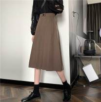 skirt Summer 2013 S, M Black, brown Mid length dress Retro High waist Pleated skirt Solid color 18-24 years old 51% (inclusive) - 70% (inclusive) other Other / other nothing