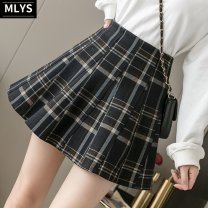 skirt Spring 2021 S,M,L,XL,2XL Short skirt commute High waist Pleated skirt Solid color Type A 18-24 years old 31% (inclusive) - 50% (inclusive) Wool cotton Korean version 401g / m ^ 2 (inclusive) - 500g / m ^ 2 (inclusive)