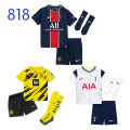 Football clothes Tottenham children's kit for socks, Tottenham children's Kit + stamp note star, Dortmund children's kit for socks, Dortmund children's Kit + stamp note star, Paris Saint Germain children's kit for socks, Paris Saint Germain shirt + stamp note star XXXS,XXS,XS,S,M,L,XL currency Spurs