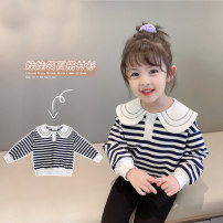 Sweater / sweater Youmi Youka Black and white striped sweater black pencil pants black and white striped sweater + black pencil pants female 90cm 100cm 110cm 120cm 130cm spring and autumn nothing Korean version Socket routine There are models in the real shooting cotton stripe Cotton 90% other 10%
