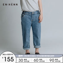 trousers ENHENN neutral 100cm 110cm 120cm 130cm 140cm 150cm 160cm spring and autumn trousers leisure time There are models in the real shooting Jeans Leather belt middle-waisted cotton Don't open the crotch Cotton 98% polyurethane elastic fiber (spandex) 2% Class B Spring 2021 Chinese Mainland