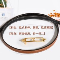 Belt / belt / chain top layer leather female belt Simplicity Single loop Youth, youth, middle age, old age Smooth button letter soft surface 1cm stainless steel Other / other 95cm,100cm,105cm,110cm