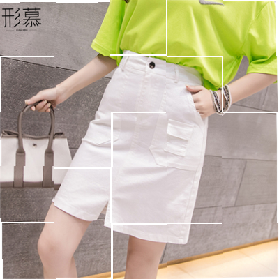 skirt Summer 2020 Middle-skirt High waist A-line skirt commute Pocket, tridimensional decoration, buttons, stitching, 3D Solid color 25-29 years old Other / other xAIWkcfB Korean version S,M,L,XL Apricot, white, red, black, 6246 apricot, 6246 white, 6246 black, 6246 orange