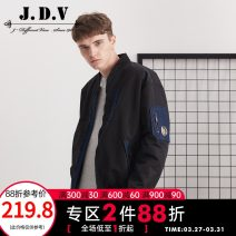 cotton-padded clothes black J.D.V 165/88B 170/92B 175/96B 180/100B 180/104B 185/108B Fashion City thickening routine easy Other leisure WYT7829 Polyamide fiber (nylon) 100% Baseball collar youth Front and middle zip placket tide silk floss Rubber band hem Fall 2017 other Zipper bag Multiple pockets