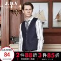 Vest / vest Fashion City J.D.V 180/100A 185/104A 165/84A 170/88A 175/92A 180/96A blue go to work Self cultivation Vest routine spring V-neck youth 2017 Business Casual SCV7353 Solid color Single breasted Slant hem cotton tie-dyed Assembly silk floss Denim Bag digging with open cut thread Spring 2017