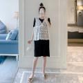 Dress Other / other black M,L,XL,XXL Korean version Sleeveless Medium length summer Crew neck Solid color ZF93162