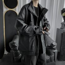 leather clothing Others Youth fashion Py2028 / Black HDL M,L,XL,2XL have cash less than that is registered in the accounts Imitation leather clothes Lapel easy zipper autumn leisure time teenagers PU Japanese Retro BD49E607 Cloth hem Three dimensional bag Multiple pockets No iron treatment