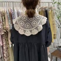 Scarf / silk scarf / Shawl other White, square collar Cape, beige summer Neckline Korean version triangle Geometric pattern