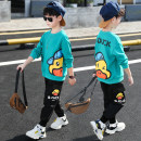 suit Bad little treasure Lake green, orange 110cm,120cm,130cm,140cm,150cm,160cm male spring and autumn leisure time Long sleeve + pants 2 pieces routine There are models in the real shooting Socket nothing Cartoon animation other children Learning reward YJT03917-1 Class B Other 100%