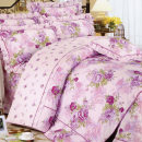 Bedding Set / four piece set / multi piece set cotton other Plants and flowers 128x68 Other / other cotton 4 pieces 40 1.2m (4 ft) bed, 1.5m (5 ft) bed, 1.8m (6 ft) bed Bed skirt Qualified products Simplicity 100% cotton twill Reactive Print  Four piece hood