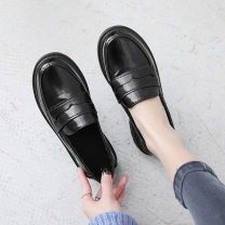 Low top shoes 35 standard yards, 36 standard yards, 37 standard yards, 38 standard yards, 39 standard yards Other / other Black-r15, black button-r42, patent black-i42, matte black-a64 Round head PU Flat bottom Low heel (1-3cm) Midmouth cloth Spring of 2019 Trochanter Mori Adhesive shoes Solid color