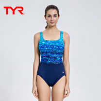 one piece  TYR S(6) M(8) L(10) Navy Blue Triangle one piece swimsuit With chest pad without steel support TAQAR7A-419 Summer of 2019 female Sleeveless Competitive swimsuit