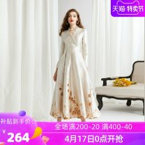Dress Winter of 2019 The flower of golden coffee S suggestion [44-50kg] m suggestion [48-54kg] l suggestion [54-58kg] XL suggestion [58-62kg] 2XL suggestion [62-65kg] 3XL suggestion [70-74kg] collection and shopping cart order gift size is too small, it is recommended to choose a larger size commute
