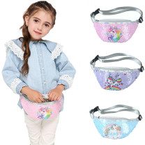 Bag The single shoulder bag PU other Other / other brand new Cartoon in travel zipper no unicorn Single root Single shoulder nothing youth Cute cartoon printing