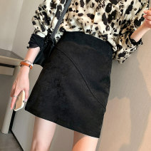 skirt Winter 2020 S M L Black Grey Pink Short skirt commute High waist A-line skirt Solid color Type A 25-29 years old sg61514 More than 95% Showgrid other Korean version Other 100% Pure e-commerce (online only)