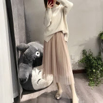 skirt Spring of 2019 One size fits all (skirt length 78cm, 80-130kg) Pink light grey naked apricot dark grey black Mid length dress Versatile High waist Pleated skirt Solid color Type A 25-29 years old L68806 other Lalm Pleated gauze Pure e-commerce (online only)