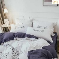 Bed skirt 1.5x2.0 bed (200 * 230 quilt cover), 1.8x2.0 bed (200 * 230 quilt cover), 2.0x2.2 bed (200 * 230 quilt cover) cotton Shuangpin Baiqing, Shuangpin Hanyu, Shuangpin huanbai, Shuangpin Lefeng, Shuangpin Xiumei, Shuangpin Yaqin, Shuangpin Yifan Other / other Solid color Qualified products